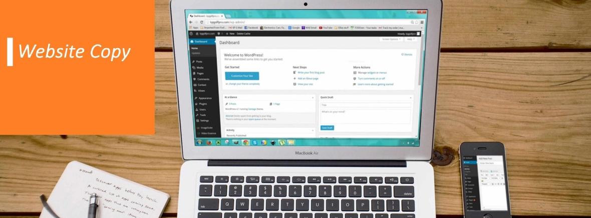 website copy banner header image