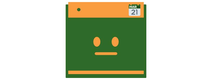 calendar sad face graphic