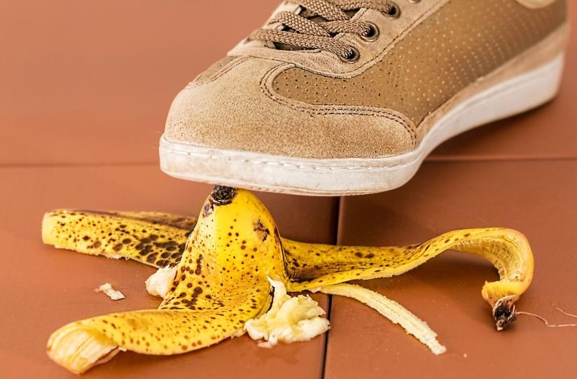 shoe banana skin
